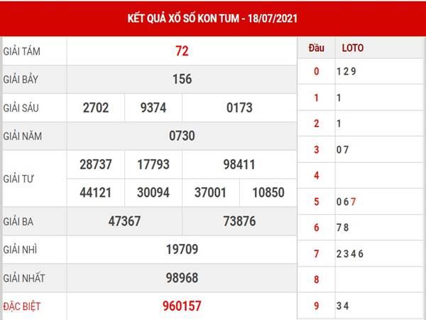 Phân tích KQXS Kon Tum chủ nhật ngày 18/7/2021